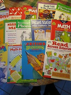 Lot of  14 mixed home school teacher child education books - FOL