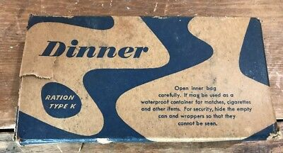 WW2 US Army US Marine Corps Ration K DINNER Unit Complete In Box - Original