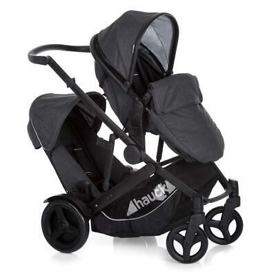 Hauck Duett 3 Tandem Pushchair (Melange Black) Newborn & Toddler SALE! WAS £450