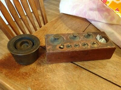 Antique Balance Scale Weights Sets