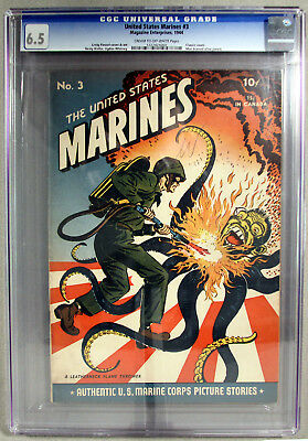 United States Marines 3 Cgc 6.5 Classic Flamethrower Cover,Man Burned Alive pane