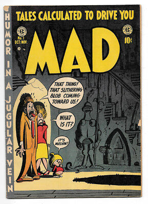Mad #1 VG/F 5.0 Golden Age Comic Tales Calculated To Drive You Mad, EC Comics