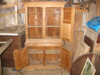 Georgian Pine Welsh Food Cupboard - 2 Piece