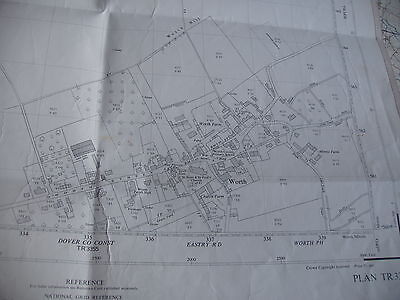 "Sandwich-Worth-East Kent:map:25"" Detail;Stamped By Land Register:ordnance 1950-7"