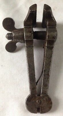 Antique Vintage Gunsmith Jewelers Machinists Hand Held Vice 3 3/4 Inches Tall