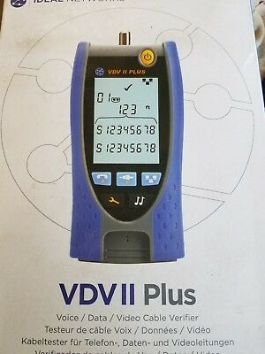 Ideal VDV II Plus Tester Kit, Copper Cable Testing, Test RJ11/12 RJ45, Checker
