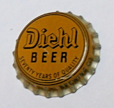 Diehl - Seventy Years Of Qualty  Cork Beer Bottle Cap - Defiance, Ohio