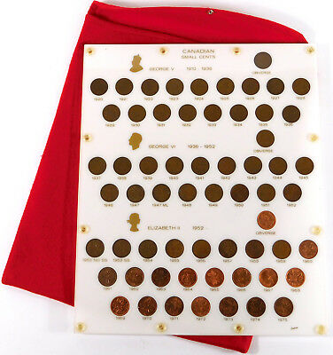 1920 - 1975 Canada Small Cents Collection - Capital Plastics Display