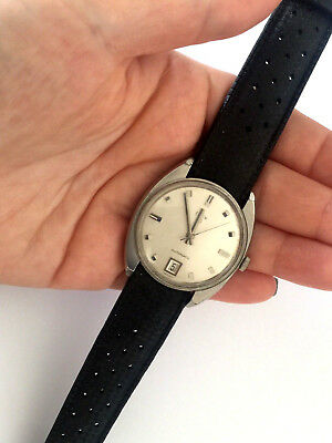 Vintage Elgin 997 Automatic Classy Gents Wrist Watch 17 Jewels Silver Color Runs