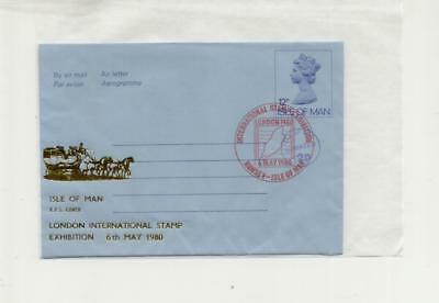 Isle of Man 1980 Overprinted Airletter from London Stamp Exhibition