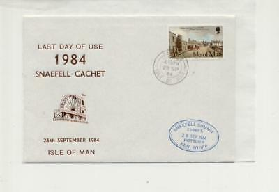 Isle of Man 1984 Last day of Snaefell summit cachet cover
