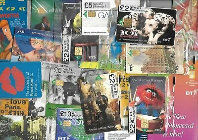 Over £100 Mint Bt Phonecards - All Mint Sealed - All Different