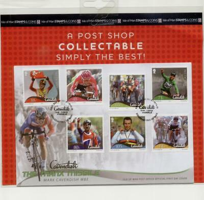Isle of Man 2012 Mark Cavendish FDC, in sealed pack