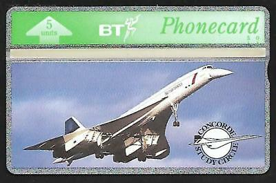 BTG111 FIRST BT CONCORDE PHONECARD CAT £40  ONLY 500 pcs
