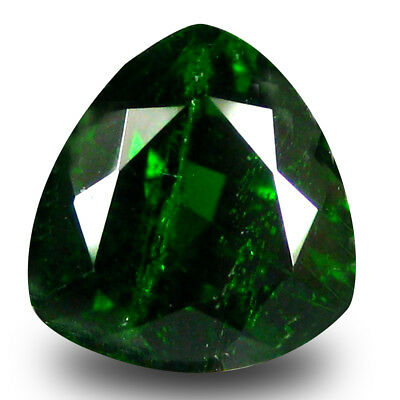 2.22 ct Amazing Trillion Shape (8 x 8 mm) Green Chrome Diopside Loose Gemstone
