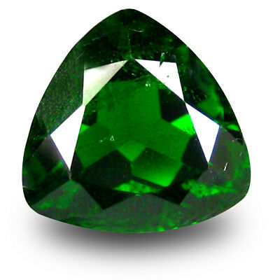 2.41 ct Astonishing Trillion (9 x 9 mm) Green Chrome Diopside Loose Gemstone