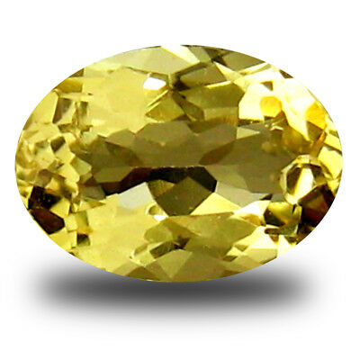 0.22 ct AAA Incomparable Oval Shape (6x4mm) Yellow Heliodor Beryl Loose Gemstone