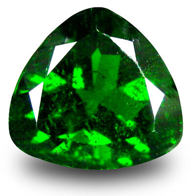 2.66 ct Shimmering Trillion Shape (9 x 9mm) Green Chrome Diopside Loose Gemstone