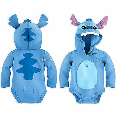 Lilo & Stitch Baby Bodysuit Costume with Hood Ears Tail Disney Store 6-24 Months