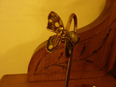 VINTAGE Pair of Pretty Butterfly Bookmarks - Excellent Condition - 1970/80s