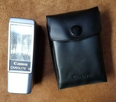Canon Canolite D Vintage Flash in Excellent Condition with Case