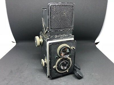 Vintage Rolleiflex TLR Camera No.63427 With Carl Zeiss Jena Tessar 1:4,5 f=7,5cm