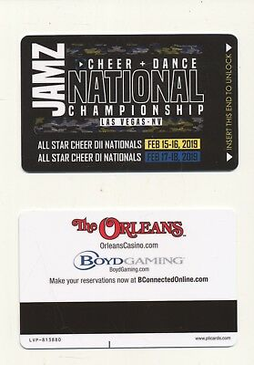 "new release--""JAMZ NATIONAL CHAMPIONSHIP""--the ORLEANS--Las Vegas, NV--Room key"