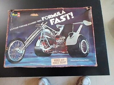 Vintage 1974 Revell Formula Fast! Corvair Powered TRIKE  1/8 Scale RARE!!!