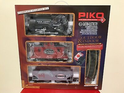 PIKO G scale New York Central starter set with lights 38101 Outdoor/ Indoor