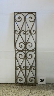 Antique Egyptian Architectural Wrought Iron Panel Grate (IS-025)