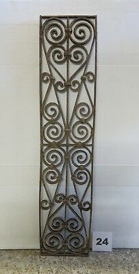 Antique Egyptian Architectural Wrought Iron Panel Grate (IS-024)