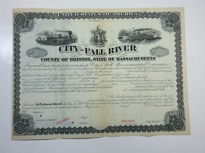 City of Fall River ca.1900-1910 Specimen Bond