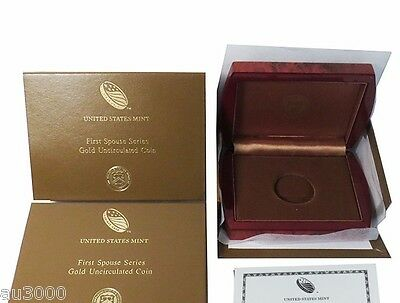 US Mint Box & COA for 2012-W $10 Gold FIRST Spouse Frances Cleveland 2 NO COINS