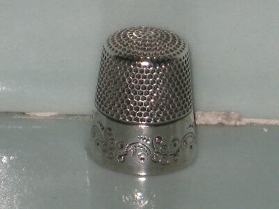 Antique Sterling Silver Sewing Thimble Ketcham McDougall MKD Mark Size 12