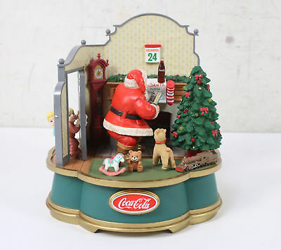 Coca-Cola Musical Collection Moving Door Santa Please Pause Here 1993