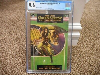 Green Arrow 1 cgc 9.6 1st appearance Shado 1987 DC TV The Longbow Hunters NM M