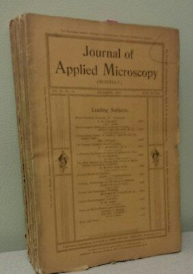 Full year (12 issues) 1900 Journal of Applied Microscopy (Microscopes Biology)