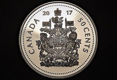 2017 Canada FINE SILVER 50 Cents Coin - 150th Anniv. Half Dollar from PROOF Set!