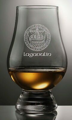 Lagavulin Islay Crest Glencairn Scotch Whisky Tasting Glass