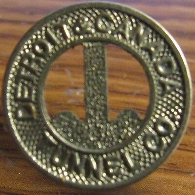 1930 Detroit - Canada Tunnel Co. Detroit, MI Transit Toll Token - Michigan #1