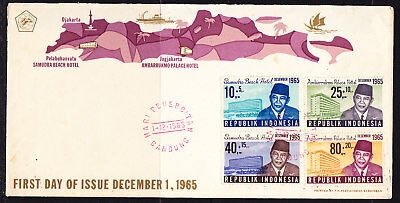 Indonesia 1965 Samudra Beach Hotel First Day Cover