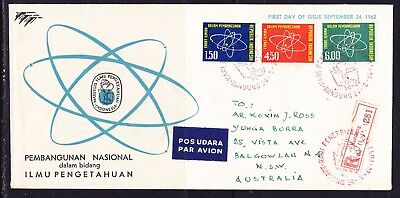 Indonesia 1962 Science & Development Registered First Day Cover R281 Aust