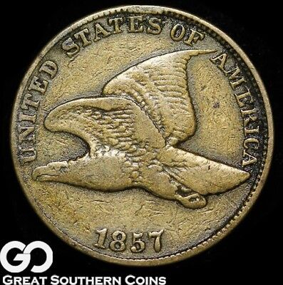 1857 Flying Eagle Cent, Early Series, Very Shortlived