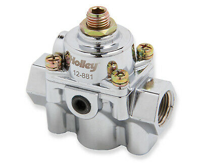 Holley 12-881 Die Cast By Pass Style Carbureted Fuel Pressure Regulators