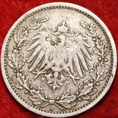 1905 Germany 1/2 Mark Silver Foreign Coin