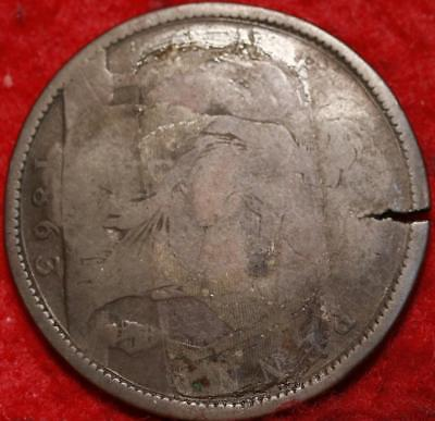 1863 Great Britain Penny Counterstamp Le Picotin Foreign Coin