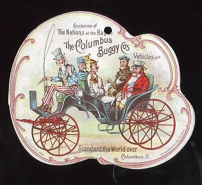 Columbus OH Columbus Buggy Co Vehicles Unusual Size Victorian Trade Card!!