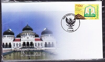 Indonesia Provinces 2008 Aceh Darussalam First Day Cover
