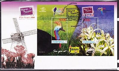 Indonesia 2008 Stamp Passion Miniature Sheet First Day Cover
