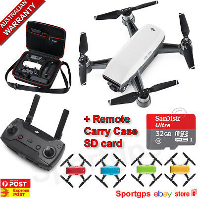 Dji Spark +Free Remote Control,32Gb Sandisk Microsd Card & Carry Case Save $280